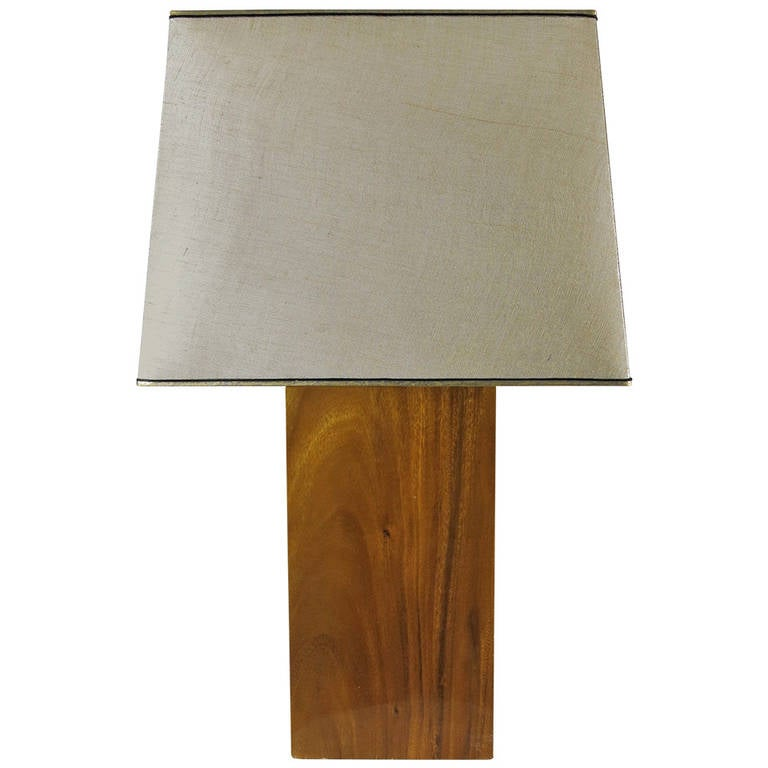 solid slab koa wood table lamp for sale at 1stdibs. Black Bedroom Furniture Sets. Home Design Ideas