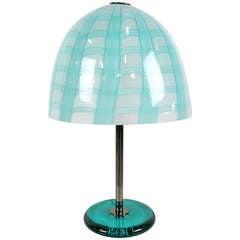 Cenedese Murano Latticino Glass Mushroom Form Lamp