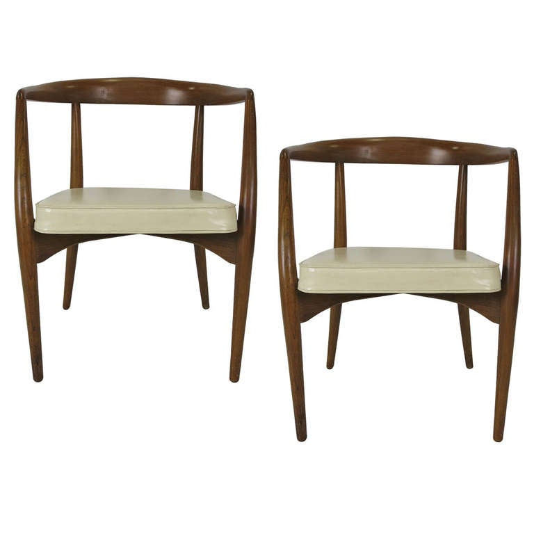 Pair of sculptural armchairs by lawrence peabody for sale - Richardson brothers bedroom furniture ...