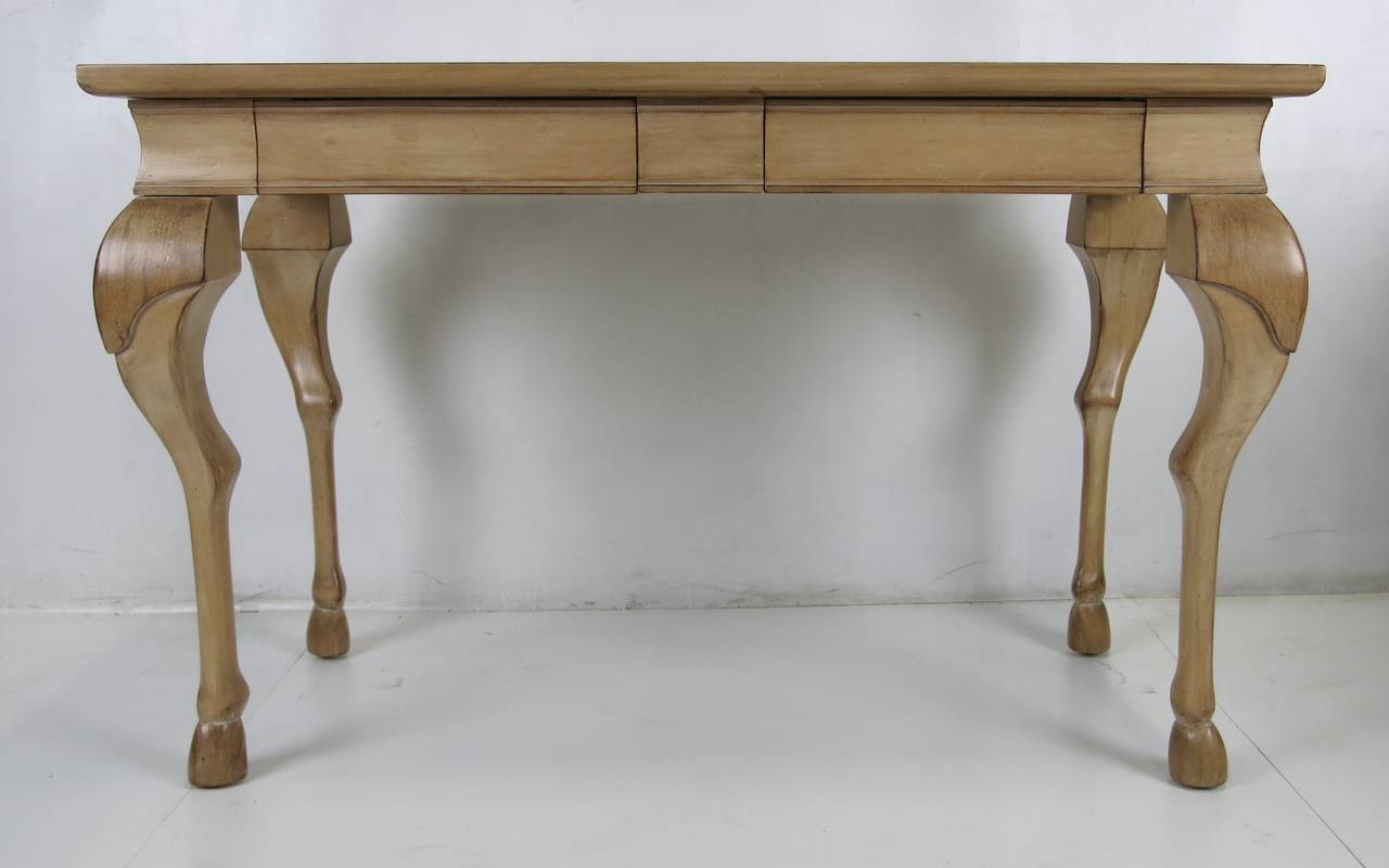 Dramatic equine leg writing table or console at stdibs