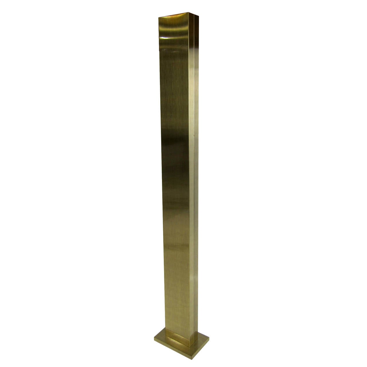 Brass Monolith Torchere by Casella
