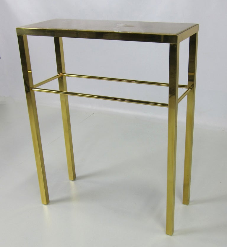 petite italian brass console table at 1stdibs. Black Bedroom Furniture Sets. Home Design Ideas