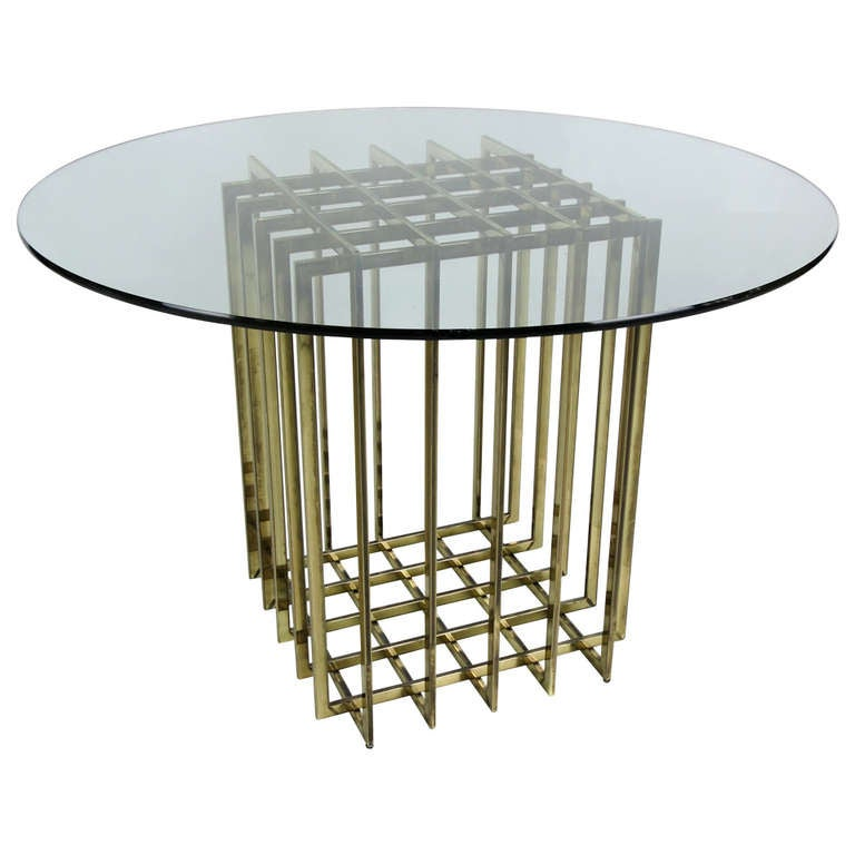 Pierre Cardin Cage Form Dining Table Base For Sale at 1stdibs