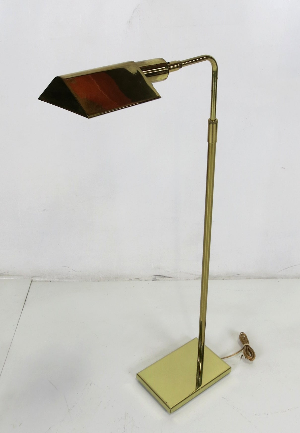 Brass Tent Shade Pharmacy Lamp By Koch And Lowy For Sale