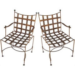 Pair of early Salterini Wrought Iron Armchairs