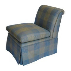 Classic Pair of Skirted Slipper Chairs by Baker