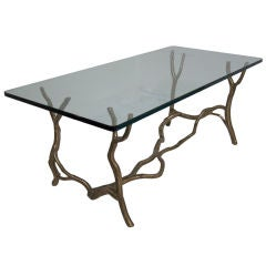 "Early Bronze ""Manzanita"" Coffee Table by Carl Gillberg"