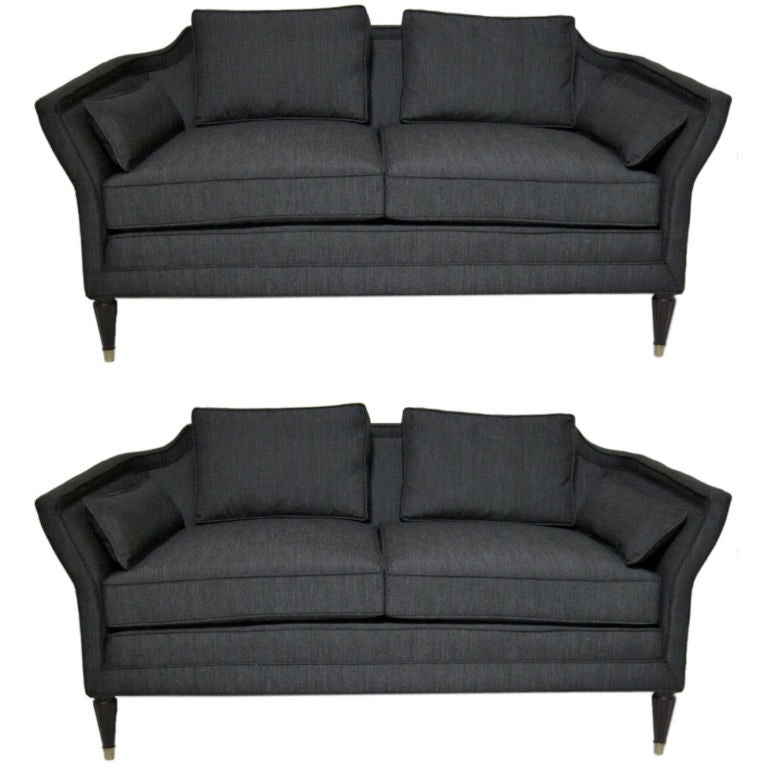 pair of loveseats by baker furniture for marshall field 39 s at 1stdibs