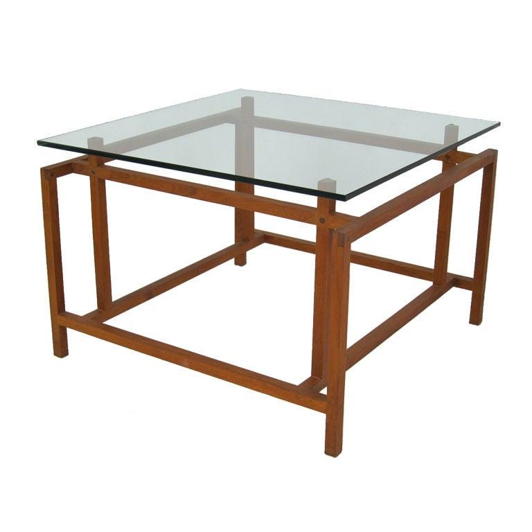 Architectural Teak Side Table by Henning Norgaard for Komfort