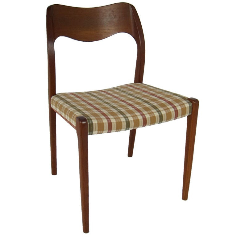 Set of Four Teak Side Chairs by N.O. Moller