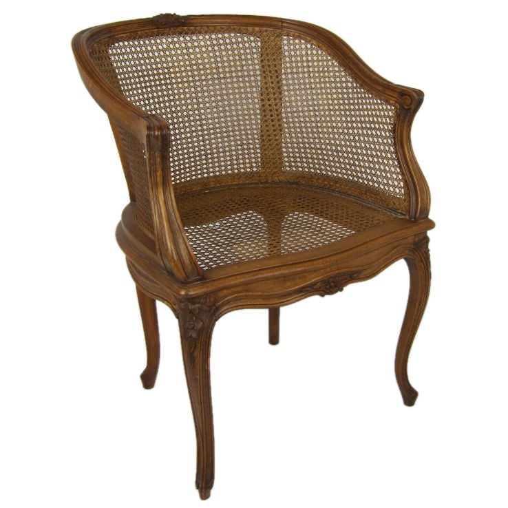 Caned French Louis Xv Bergere Armchair For Sale At 1stdibs