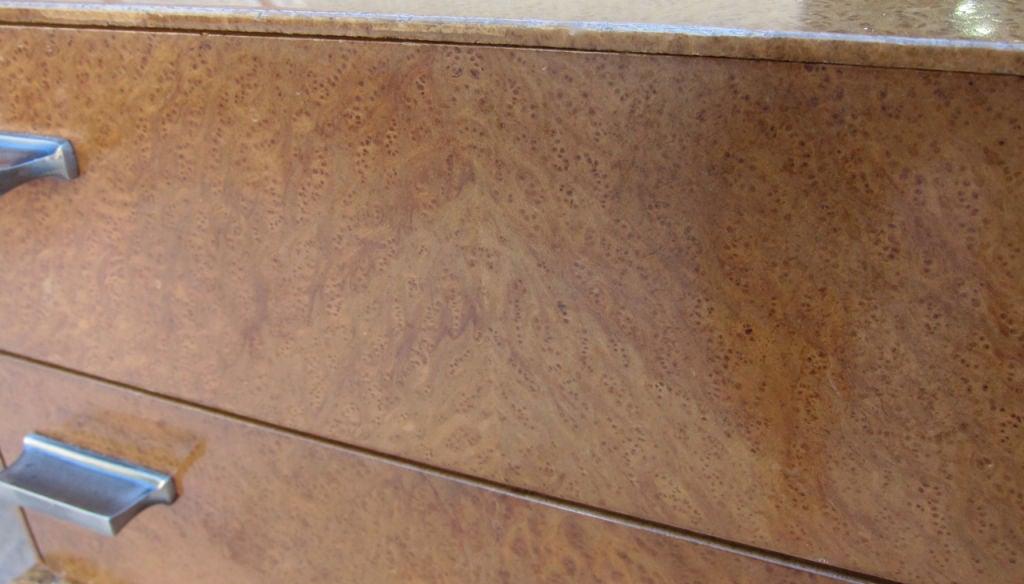 Fine Burlwood Executive Desk w/Rattan Base by Winsor White 3