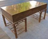 Fine Burlwood Executive Desk w/Rattan Base by Winsor White image 4