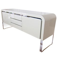 Waterfall Sideboard with Lucite Base by Vladimir Kagan