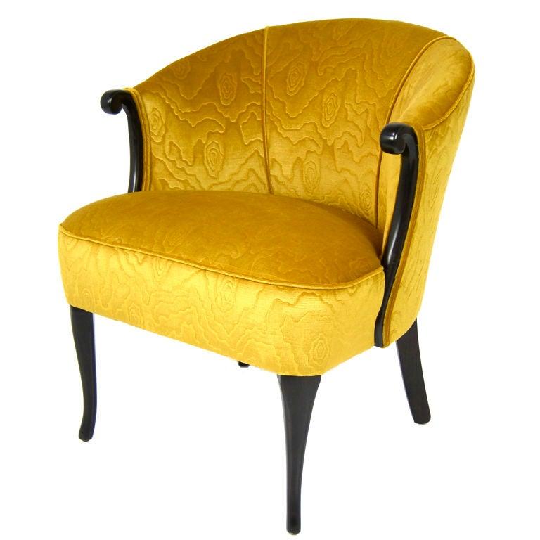 Velvet Boudoir Chair