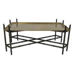 Chinoiserie Tray Table with Brass Top