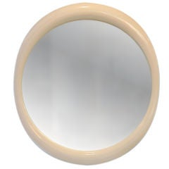 Large Organic Oval Lacquer Mirror