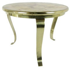 Arturo Pani Bronze Side Table with Onyx Top