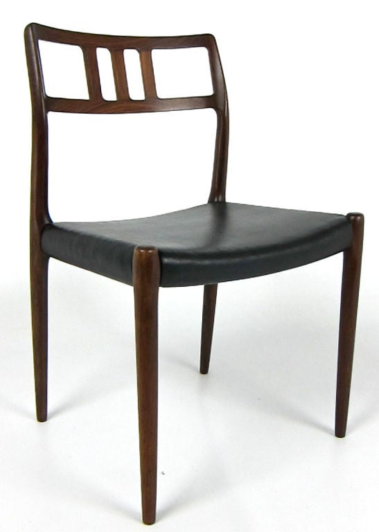 Set of Four Model 79 Rosewood Side Chairs by JL Moller at 1stdibs