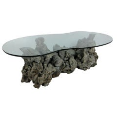Large Sculptural Freeform Driftwood Burl Coffee Table