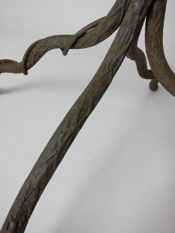 Wrought Iron Tree Form Floor Sculpture After Giacometti