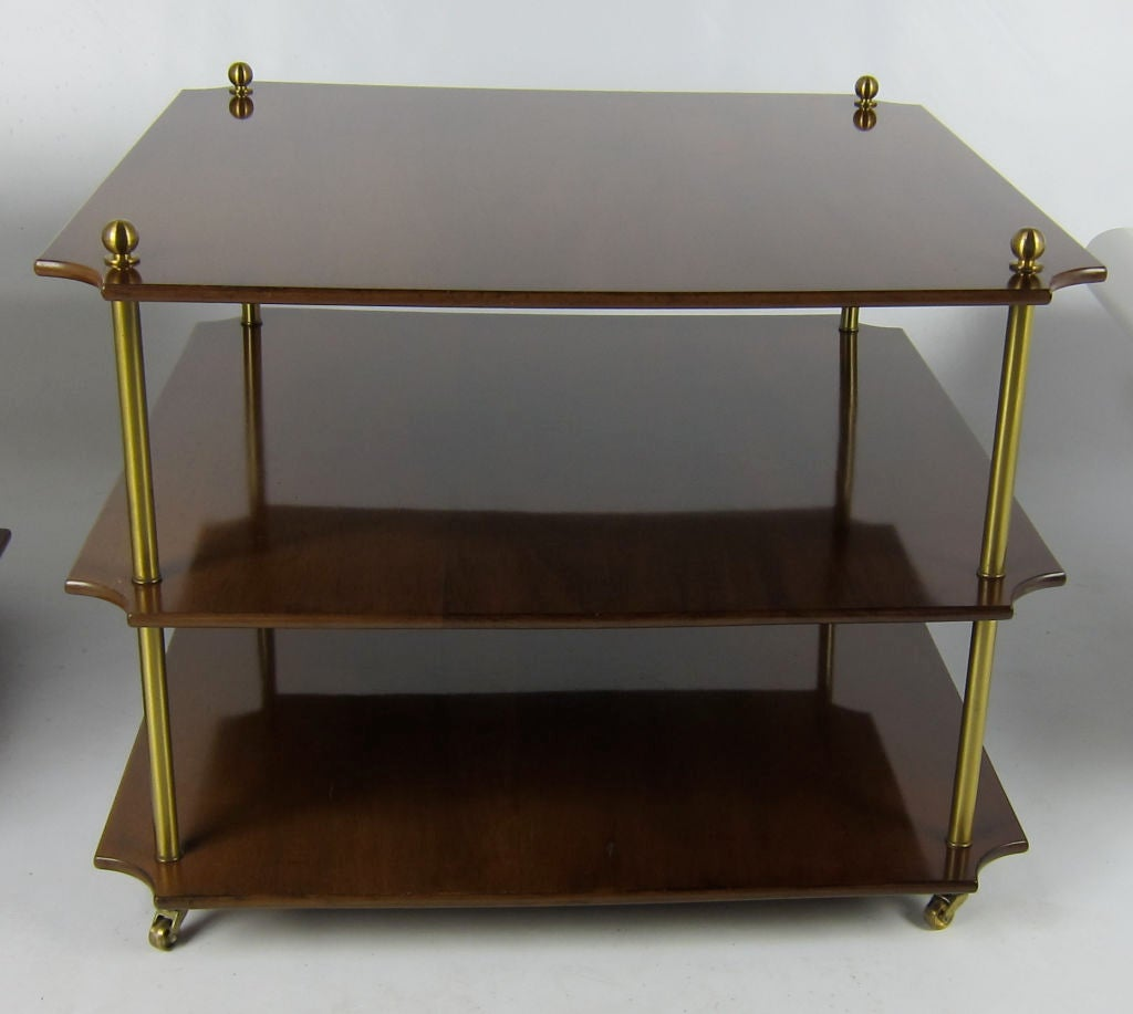 Pair of italian tiered walnut side tables for sale at for Walnut side table