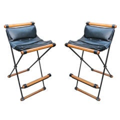 Pair of Iron Bar Stools by Cleo Baldon for Terra