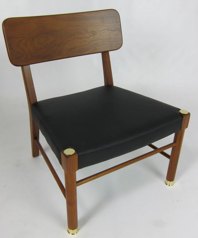 Mid-Century Modern Four Danish Teak Lounge Chairs by Borge Mogensen For Sale