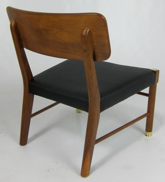 Mid-20th Century Four Danish Teak Lounge Chairs by Borge Mogensen For Sale