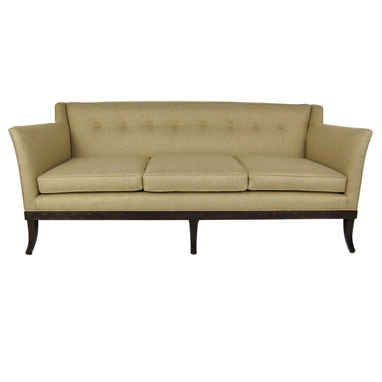 three seat sofa by virginia connor for grosfeld house at. Black Bedroom Furniture Sets. Home Design Ideas