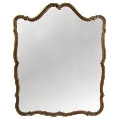 Dramatic Parcel Gilt Regency style Mirror by Dorothy Draper