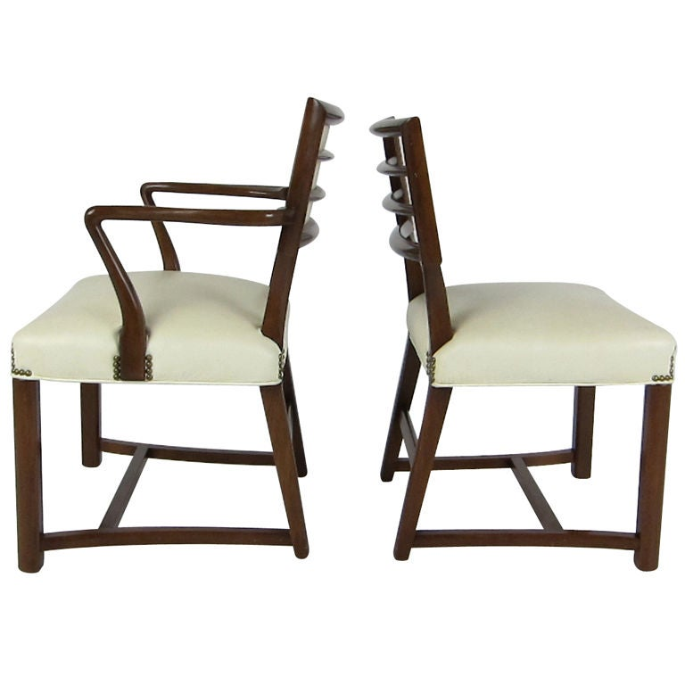 Exceptional Set Of 8 Dining Chairs By Baker At 1stdibs