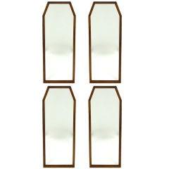 Set of Four Walnut Wall Mirrors