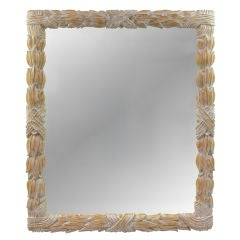Large Carved Wood Acanthus Leaf Mirror by LaBarge