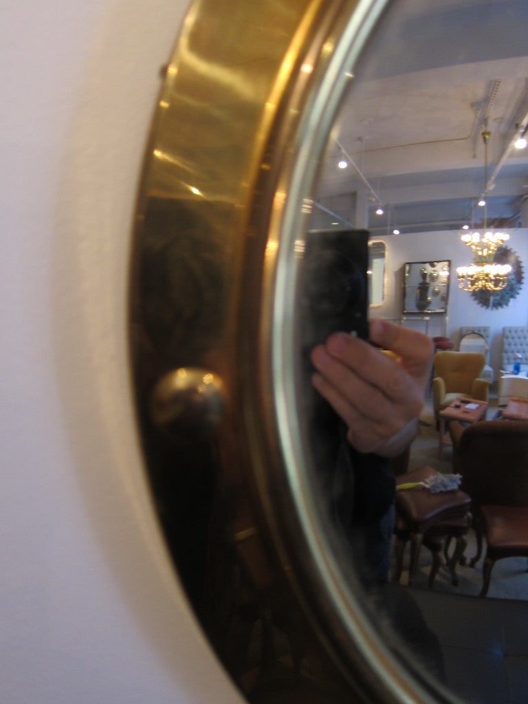 Group of Brass Porthole Convex Mirrors  4