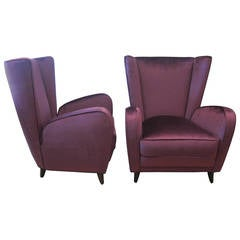 Pair of Lounge Chairs by Paolo Buffa.