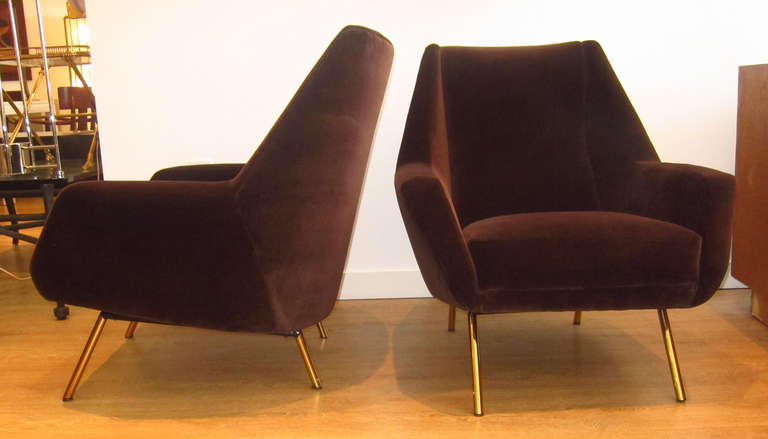 Pair Of 1950s Italian Lounge Chairs At 1stdibs