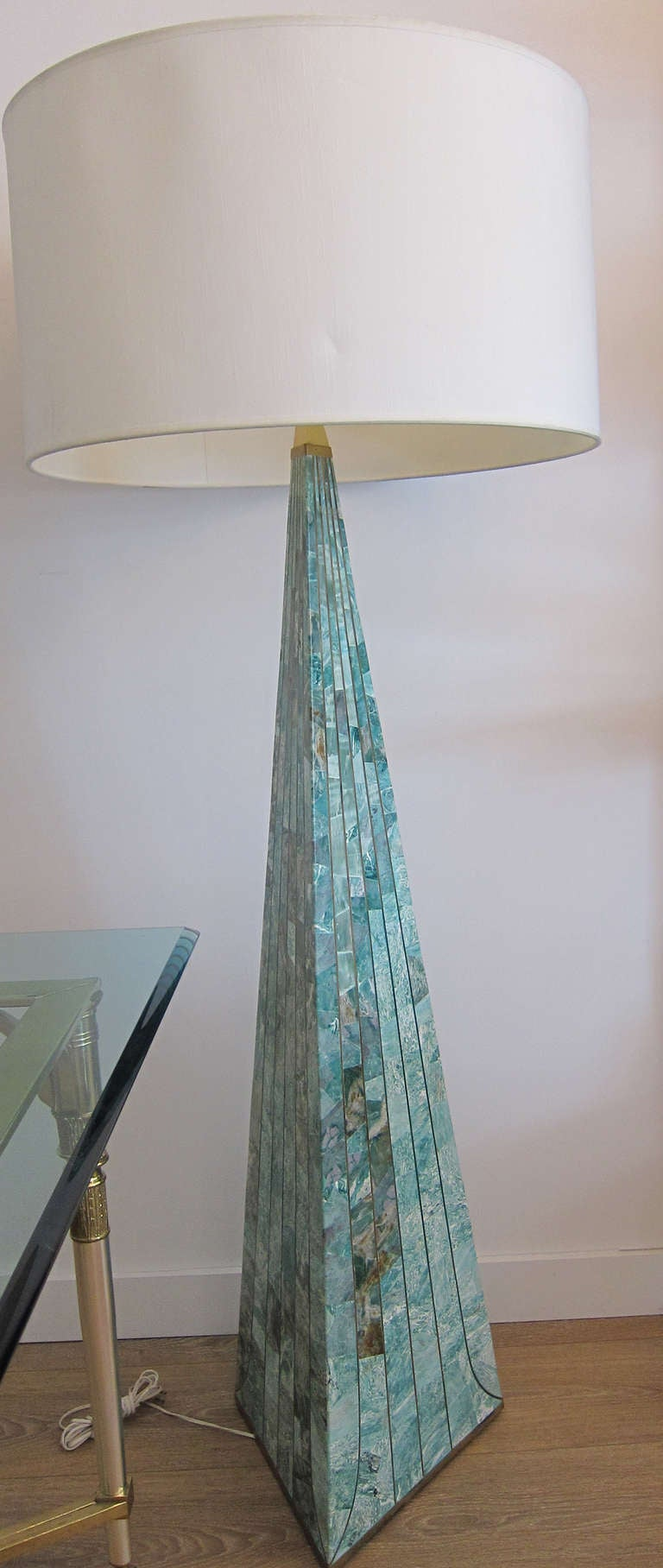 Pyramidal Stone Tile Floor Lamp At 1stdibs
