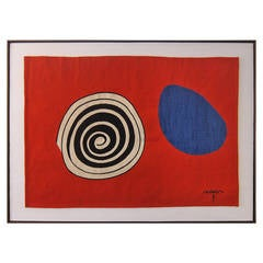 "Tapestry, ""La Tâche Bleue""  After Alexander Calder"