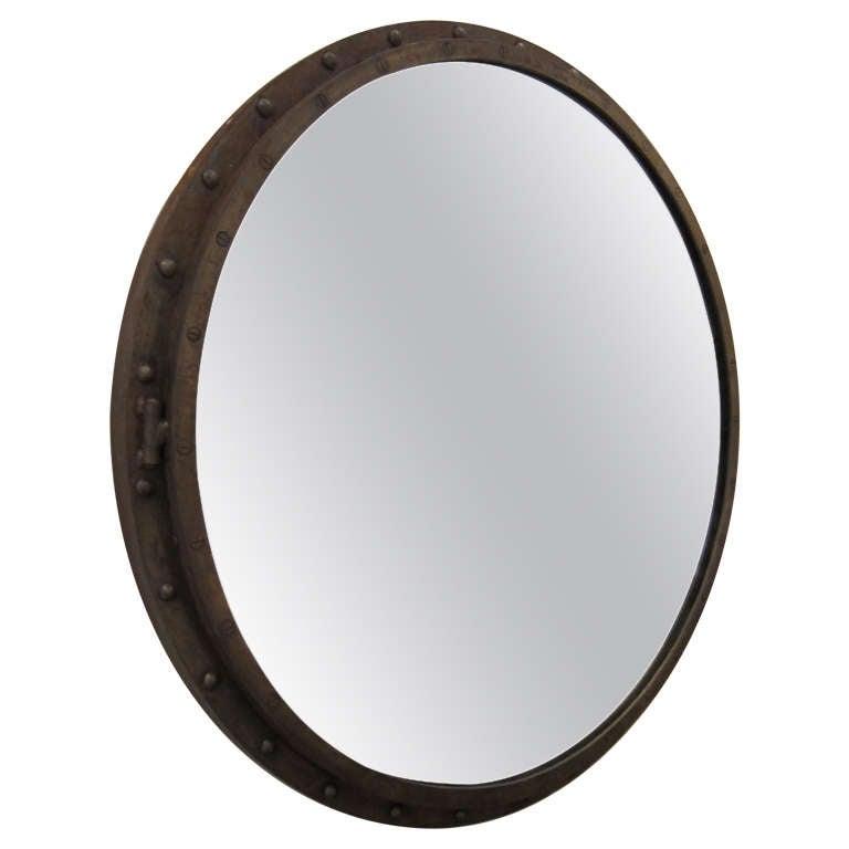 large porthole mirror at 1stdibs