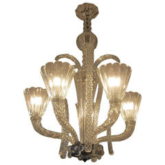 Barovier e Toso Chandelier, Italy, 1940s