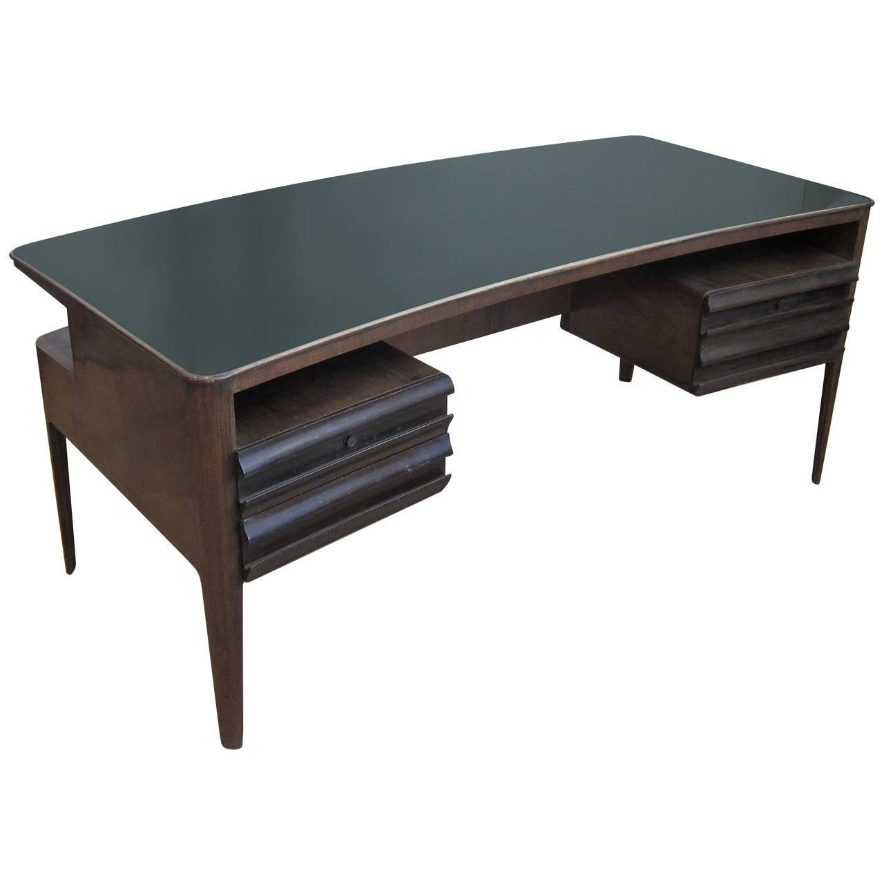 Rare Executive Desk By Gio Ponti At 1stdibs