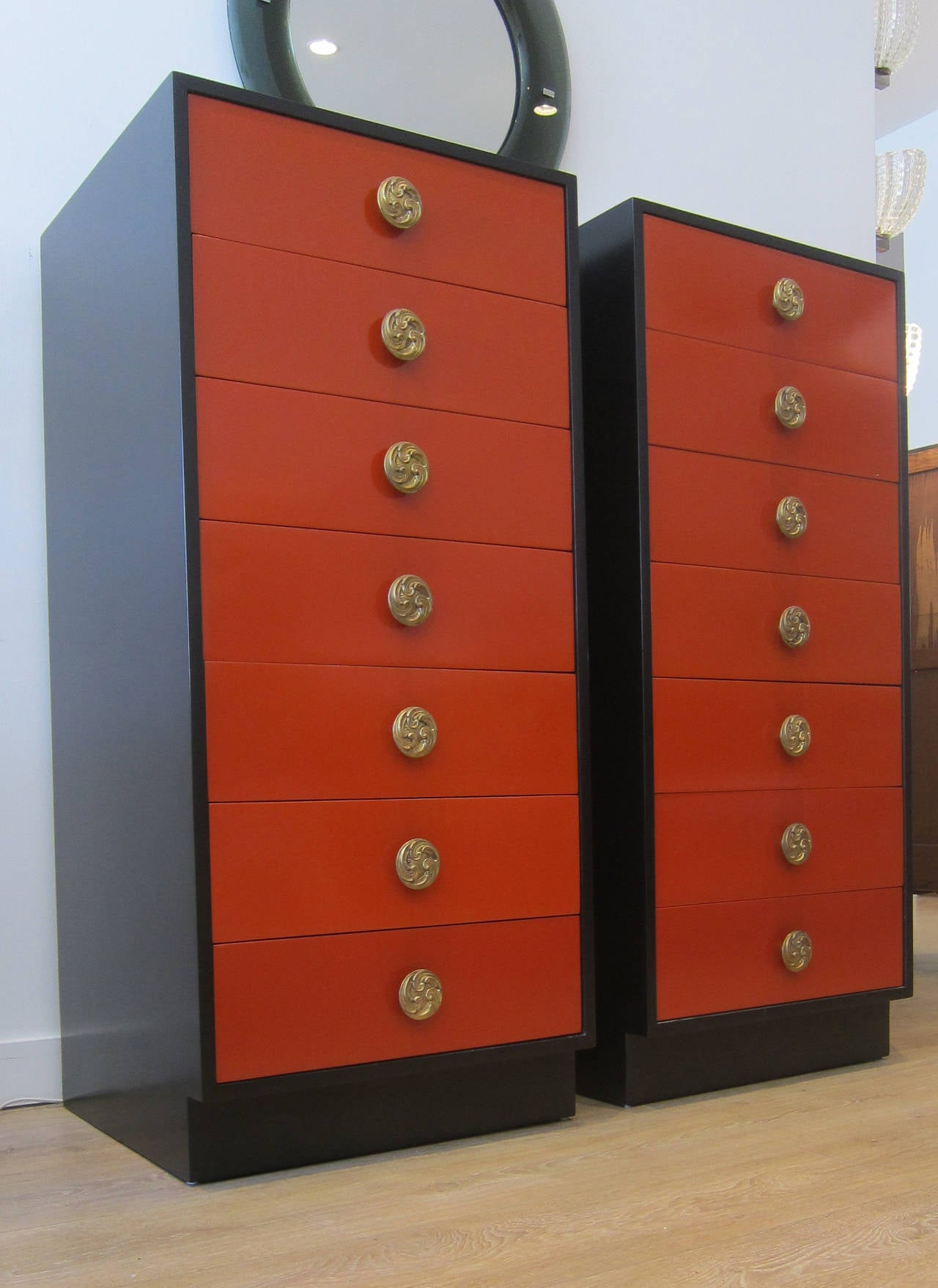 Tall Dresser Drawers ~ Pair of tall lingerie chest drawers at stdibs
