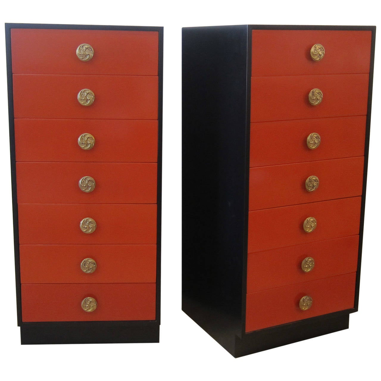 Pair Of Tall Lingerie Chest Of Drawers At 1stdibs
