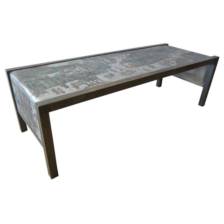 Philip And Kelvin Laverne Waterfall Coffee Table At 1stdibs