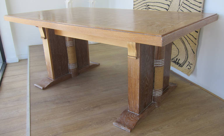 Dining Table Attributed to Audoux Minet, France 1960 5