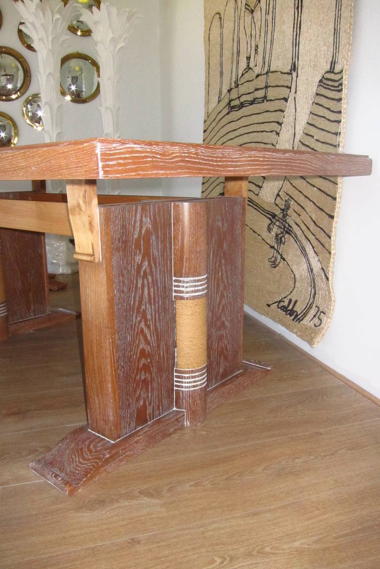 Dining Table Attributed to Audoux Minet, France 1960 8