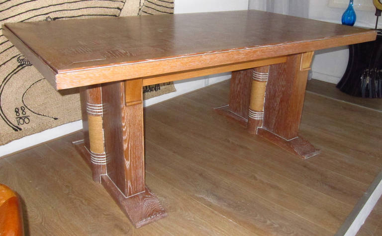 Dining Table Attributed to Audoux Minet, France 1960 2