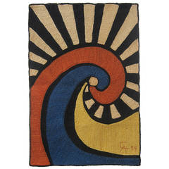 """Swirl"" Tapestry after Alexander Calder"