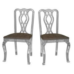 Pair of Lucite Chairs.